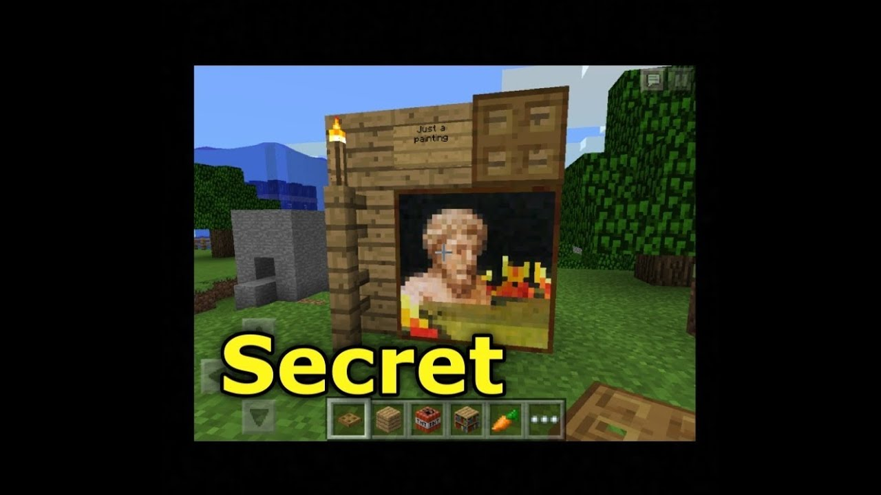 Minecraft Pocket Edition How To Build A Secret Door Youtube
