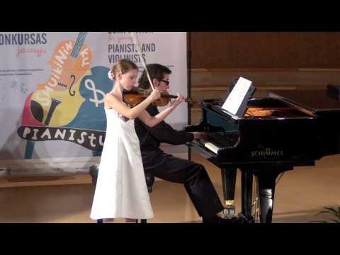 "R. Schedrin - ""A la Albeniz"" (""Imitating Albeniz""). Ugnė Liepa Žuklytė (10 Years)."