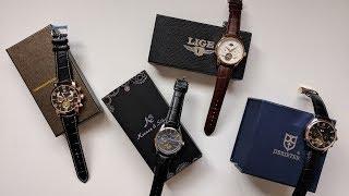 Mechanical Wrist Watches Review - LIGE, Derieter, Forsining and Kronen & Soehne