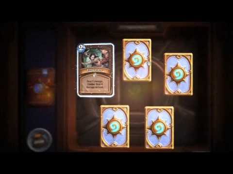 1st Time Opening 40 Packs of Hearthstone Cards!