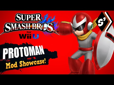 Super Smash Bros. for Wii U Mod Showcase: Proto Man Vertex Hack!