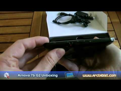 Arnova 7b G2 Dual Touch unboxing - Cheap Android 2.3 RK2918 CPU tablet