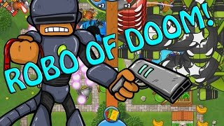BTD Battles -  Robo monkey and Apache card combo