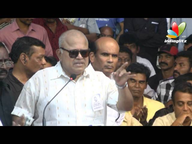 Radha Ravi,Anand Raj & more Kollywood Stars joins hunger strike for Tamil Eelam - Part 7  HD