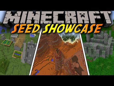 "Minecraft: Seed Showcase 1.7.9 - ""PYRAMID"" MESA Biome, Jungle Temple, Village al"