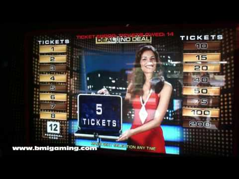 Deal Or No Deal Ticket Redemption & Prize Coupon Video Arcade Games - BMIGaming.com - ICE
