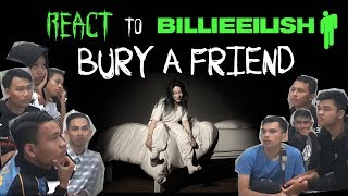 Intermediate students of Captain's Club Tegal react to Billie Eilish - Bury A Friend
