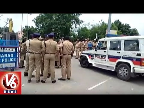 Sec 144 Imposed In Armoor As Farmers Protests Seeking Release Of Water From SRSP | V6 News