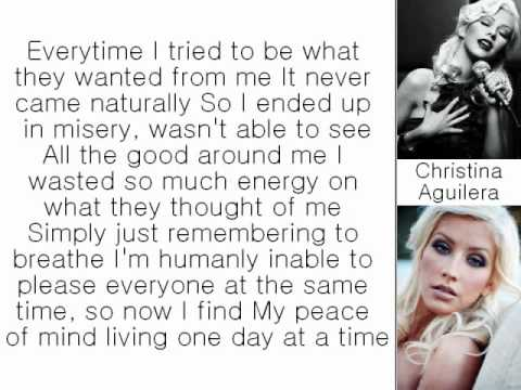 Christina Aguilera - Keep on Singing My Song