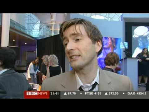 David Tennant on BBC News at The Evening Standard Awards