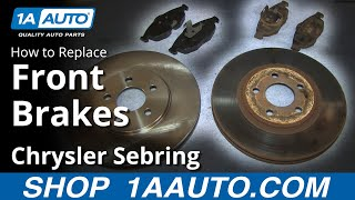 How To Install Replace Do a Front Brake Job 2001-06 Chrysler Sebring