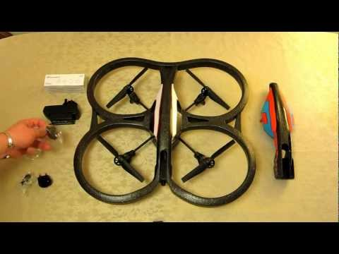 in HD - Parrot AR Drone 2.0 - All Unboxed. Assembling the two part battery charger. Part 2 of 2.