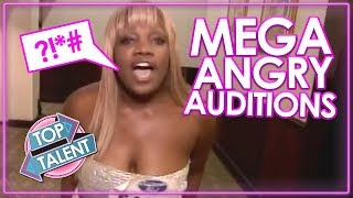 MEGA ANGRY! ANGRIEST AUDITIONS EVER on Got Talent, X Factor & Idols  Top Talents