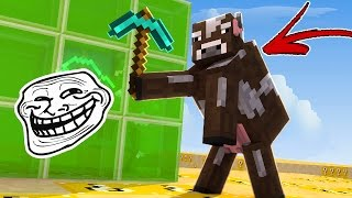 CUBÃO LUCKY BLOCK: TROLL DO DISFARCE DE MOB !! (MINECRAFT TROLL)