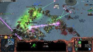 Starcraft 2 - Arcade - Direct Strike - 3vs3 - Zerg - Commentating - #245