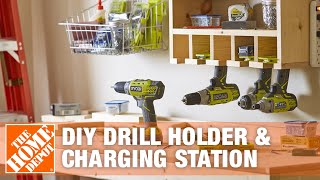 DIY Drill Holder & Power Tool Charging Station | The Home Depot