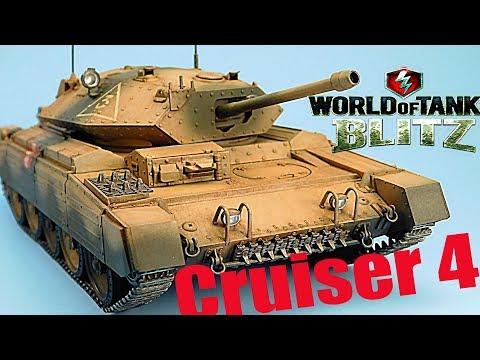 WoT Blitz обзор танк Cruiser 4 лёгкий британский новичкам британская ветка World of Tanks Blitz#61