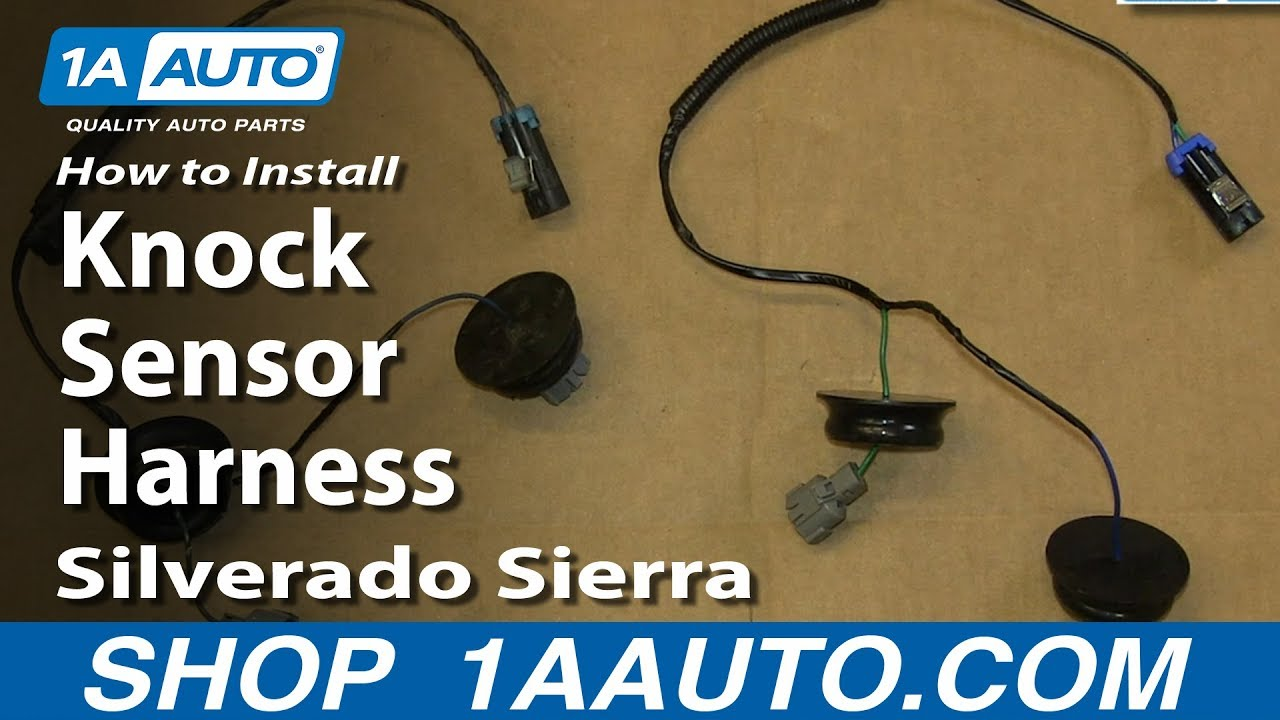 how to install replace knock sensor harness 5 3l 2000