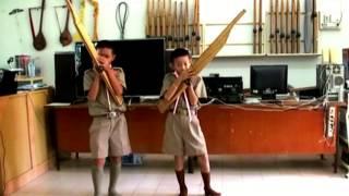นักเรียนชั้น ป 5 ฝึกเป่าเพลงเต้ยโขง(ฝึกเป่าขั้นพื้นฐาน)