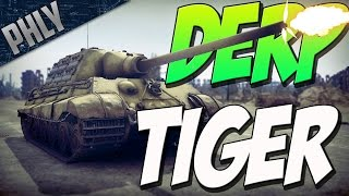 DERP TIGER - How To Jagd The Tiger (War Thunder Tanks Gameplay)