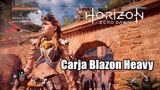 Horizon Zero Dawn Carja Blazon Heavy Outfit - How to Optain Amor Sets and Rare Resources Easilly