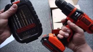 Black and Decker 18v Hammer drill (BDH18) unboxing and noob tutorial