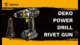 DEKO Power Drill  Rivet Gun VS Manual Hand Riveter