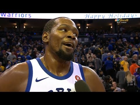 Kevin Durant Interview After The First Half Of The Game / Warriors vs Lakers