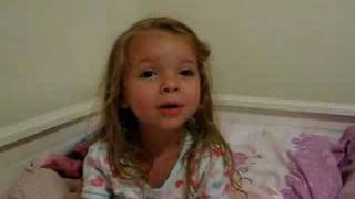 "CUTEST LITTLE GIRL sings ""Our Father"" at bedtime. ENJOY!!!!"