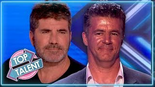 BEST Simon Cowell Look-A-Likes On X FACTOR, GOT TALENT & American Idol  | Top Talent