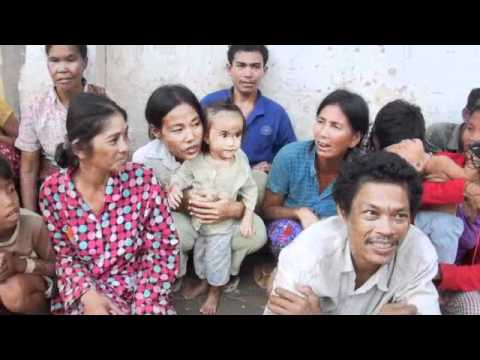 Poor People Suffered from Severe Floods in Cambodia