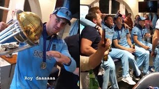 England Dressing Room Celebrations.. 2019 Cricket World Cup Final