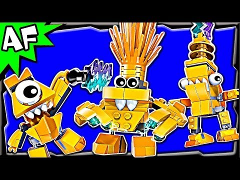Lego Mixels ELECTROIDS Series 1: Telso. Zaptor & Volectro 41506 41507 41508 Animated Building Review