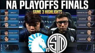 TL vs TSM Game 3 Highlights LCS Playoffs Final - Team Liquid vs Team SoloMid Game 3 Highlights LCS