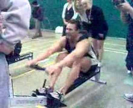 Indoor Rowing 100m WR Rob Smith Video