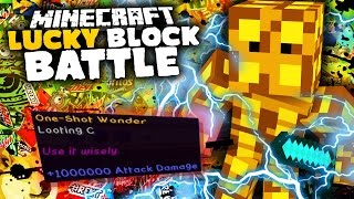 1000000 ATTACK DAMAGE!!! | Lucky Block Battle