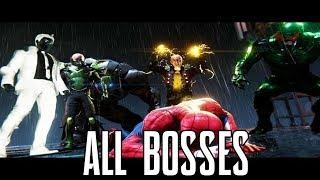 Marvel Spider-Man (PS4) - All Bosses/ Boss Battle/ Boss Fight