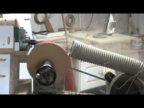 Carving Wooden Pully using Floating Router Lathe copier