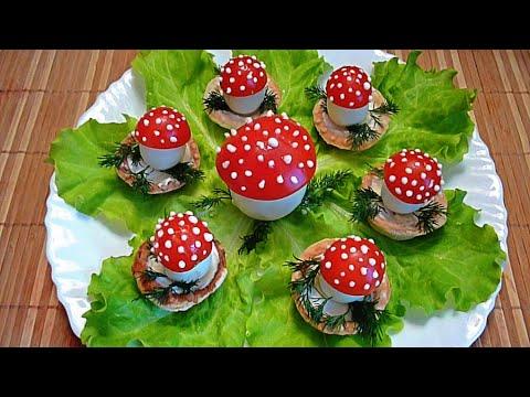 Как сделать грибы из помидоров 867