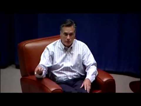 Mitt Romney: The United States And Its Global Competition (Clip)