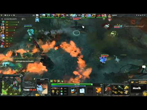 Mousesports vs Evil Geniuses Game 2 Part 2  DOTA 2 International Western Qualifiers - TobiWan & Soe