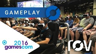 VR Theater 4D con Samsung Gear VR - Gamescom 2016: GAMEPLAY
