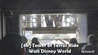 [4K] Tower of Terror Ride 2016 - Walt Disney World - Disney