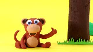 Baby Monkey Stop motion cartoon for children - BabyClay