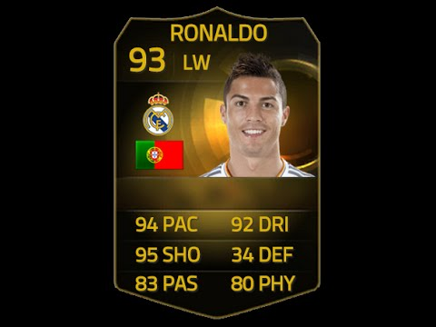 FIFA 15 IF RONALDO 93 Player Review & In Game Stats Ultimate Team