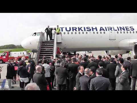 Turkish Airlines FIRST LANDING in Friedrichshafen FDH! [HD]