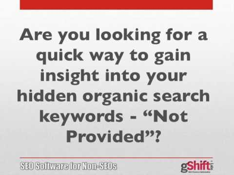 Google Not Provided Keyword Insight Report - gShift Labs SEO Software
