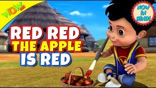 Red Red Apple | 3D Animated Kids Songs | Hindi Songs for Children | Vir | WowKidz