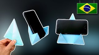 DIY - Suporte de Celular de Origami 4.0 - Vertical e Horizontal!