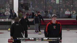 2018 Wisconsin State High School Curling Championships - Wausau East vs Marshfield Boys